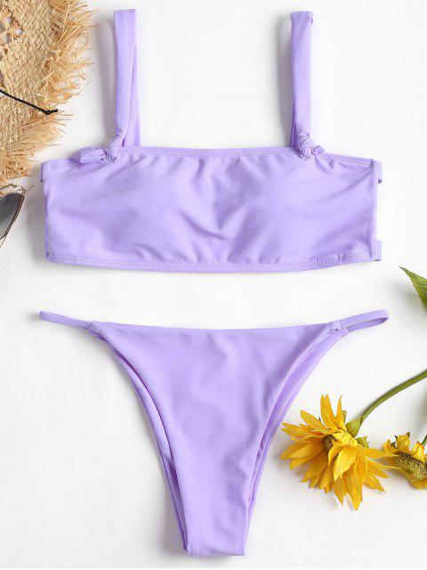 Ladder Cut Out Nuisette String Bikini - Mauve L Mobile