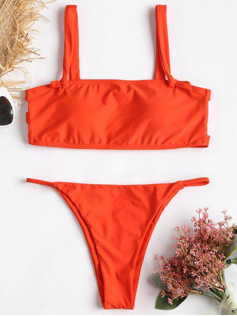Ladder Cut Out Nuisette String Bikini - Orange Papaye L Mobile