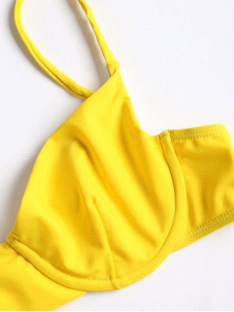 Bikini à Bretelles à Coupe Haute - Jaune Canard Caoutchouc M Mobile