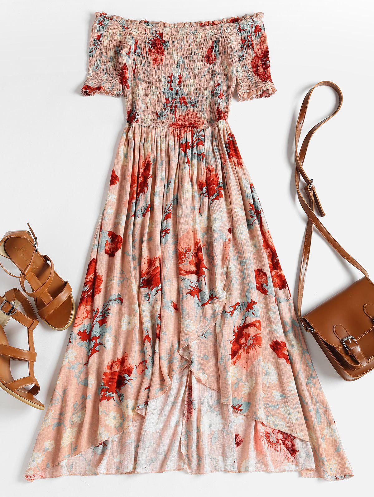 Smocked Floral Off The