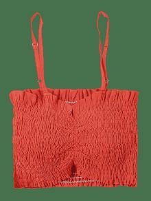 Smoked Rojo Top Crop Casta Cami S o Hgzw866qc