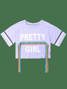 Camiseta Color Print M De Malva Rainbow Ribbon Estampada rtqWw4FIr