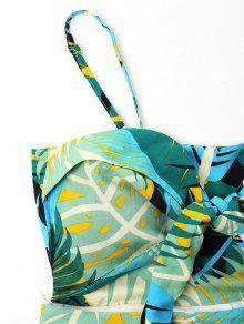 S Cami Tropical Anudado De Multicolor Vestido Estampado pwP7a