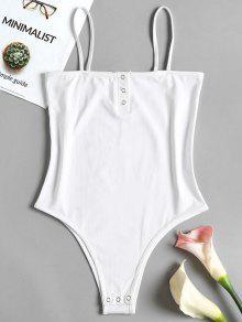 انجذاب زر الانزلاق ارتداءها - أبيض S