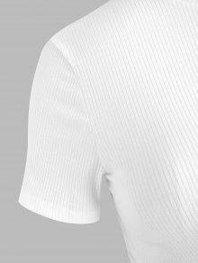 3x Camiseta De Con Estampado Grandes Blanco Tallas HqvYxw6