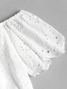 Ojal Pantalones De Conjunto Cortos Blanco De S Hombro De 6Zv4Iwxq