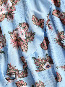 Ligero L Volantes Con Volantes Con Floral Vestido De Celeste Falda waaf8