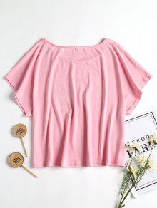 Camiseta Claro Corte De De En Relaxed Boana Forma Banana Rosa S qqS7rwC