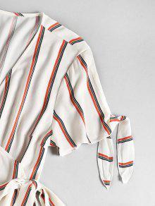 Lazo Y Manga A Blanco Con Vestido Rayas C Ox671w6A