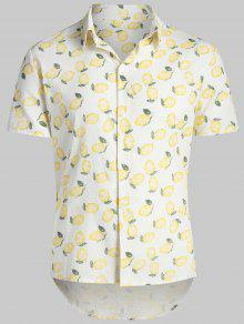 243;n Blanco Lim Hawaii C Shirt De Estampado Beach AHxggq