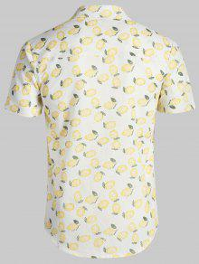 C Beach 243;n Lim De Estampado Blanco Shirt Hawaii wP0BWq