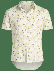 C Beach De 243;n Hawaii Lim Estampado Blanco Shirt x0RqvH4w
