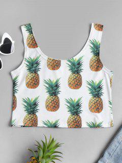 Débardeur Court à Imprimé Ananas - Blanc
