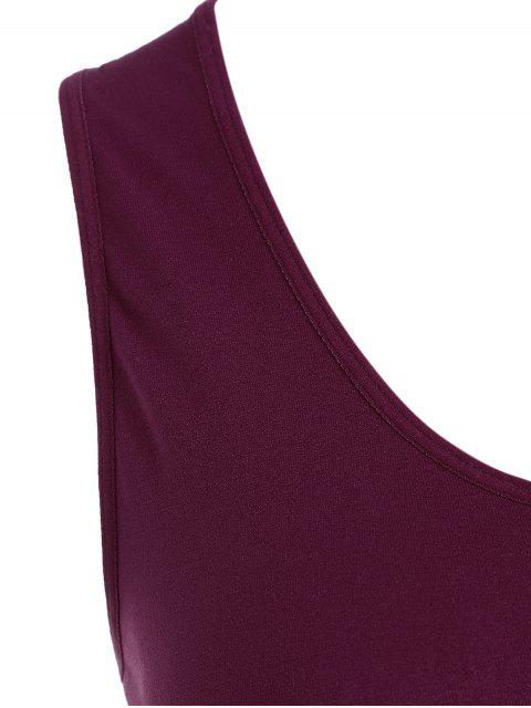 chic Seamless Racerback Gym Tank Top - RED WINE ONE SIZE Mobile