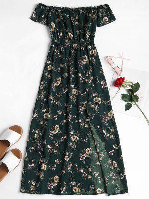 Schulterfreies Blumen Sommerkleid