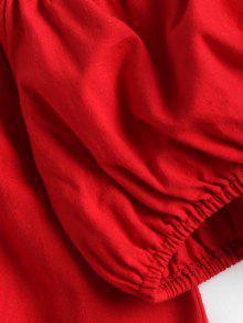 Del La Hombro S Fuera Amo De Parte Rojo Superior WnqH1HUI