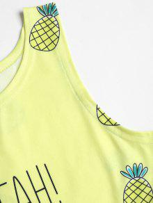 Amarillo Pi Con Camiseta a Sin Estampado De Mangas Ww0xqaOvqH