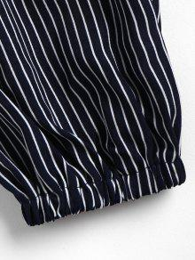 Stripes Cinched Top M Azul De Oscuro Pizarra Tn7fqdw
