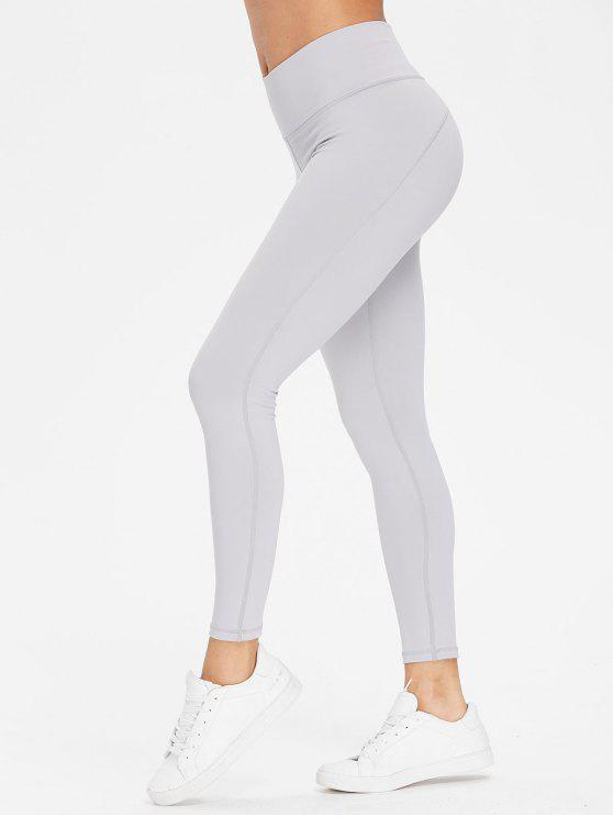 affordable Performance Sports Leggings - LIGHT GRAY L