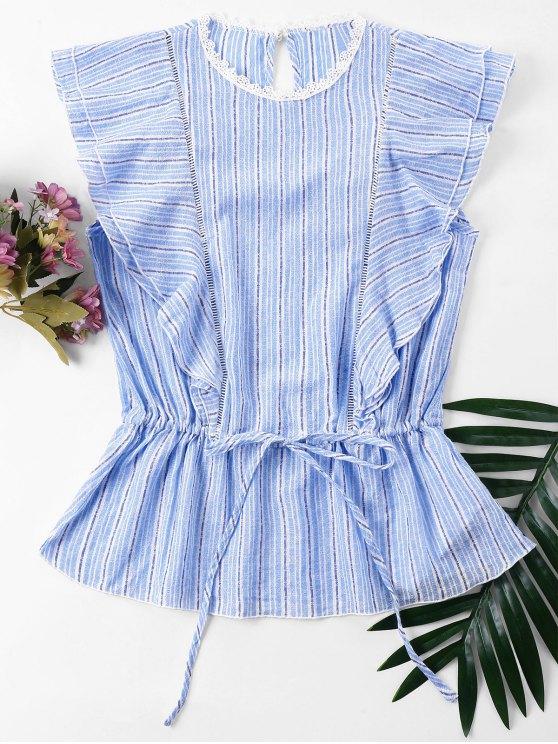 Blusa Listrada - Pó Azul XL