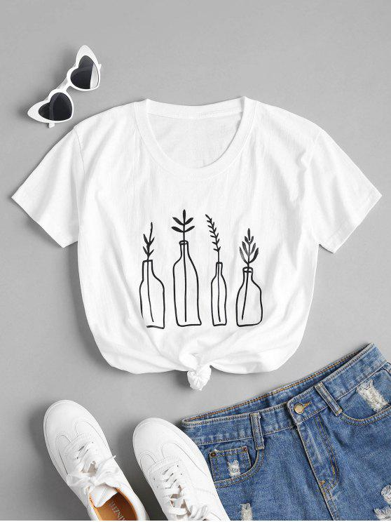 shop Bottle Plant  Graphic Oversized Tee - WHITE S