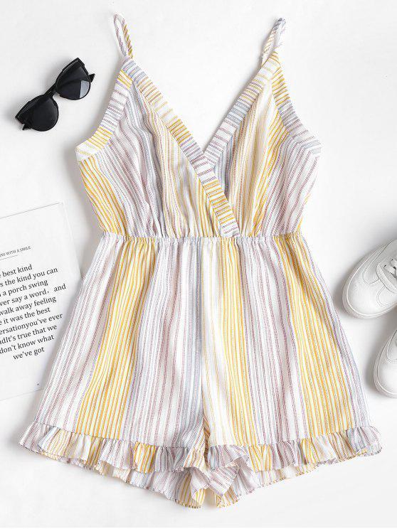 Stripes Cami Romper - Multicolor L