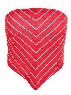 Blusa Con Lazo Y Pañuelo A Rayas Con Lazo - Rojo Lava 2xl
