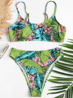 High Leg Jungle Bikini - Venom Green M