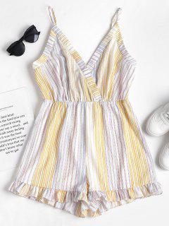 Stripes Cami Romper - Multicolor S