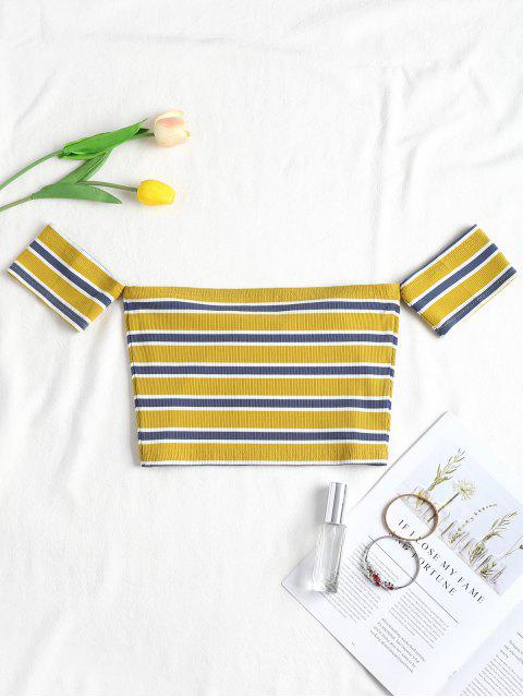 women's Stripes Off Shoulder Tee - MULTI L Mobile