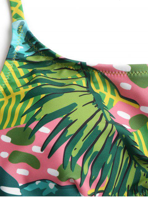 women High Leg Jungle Bikini - VENOM GREEN L Mobile