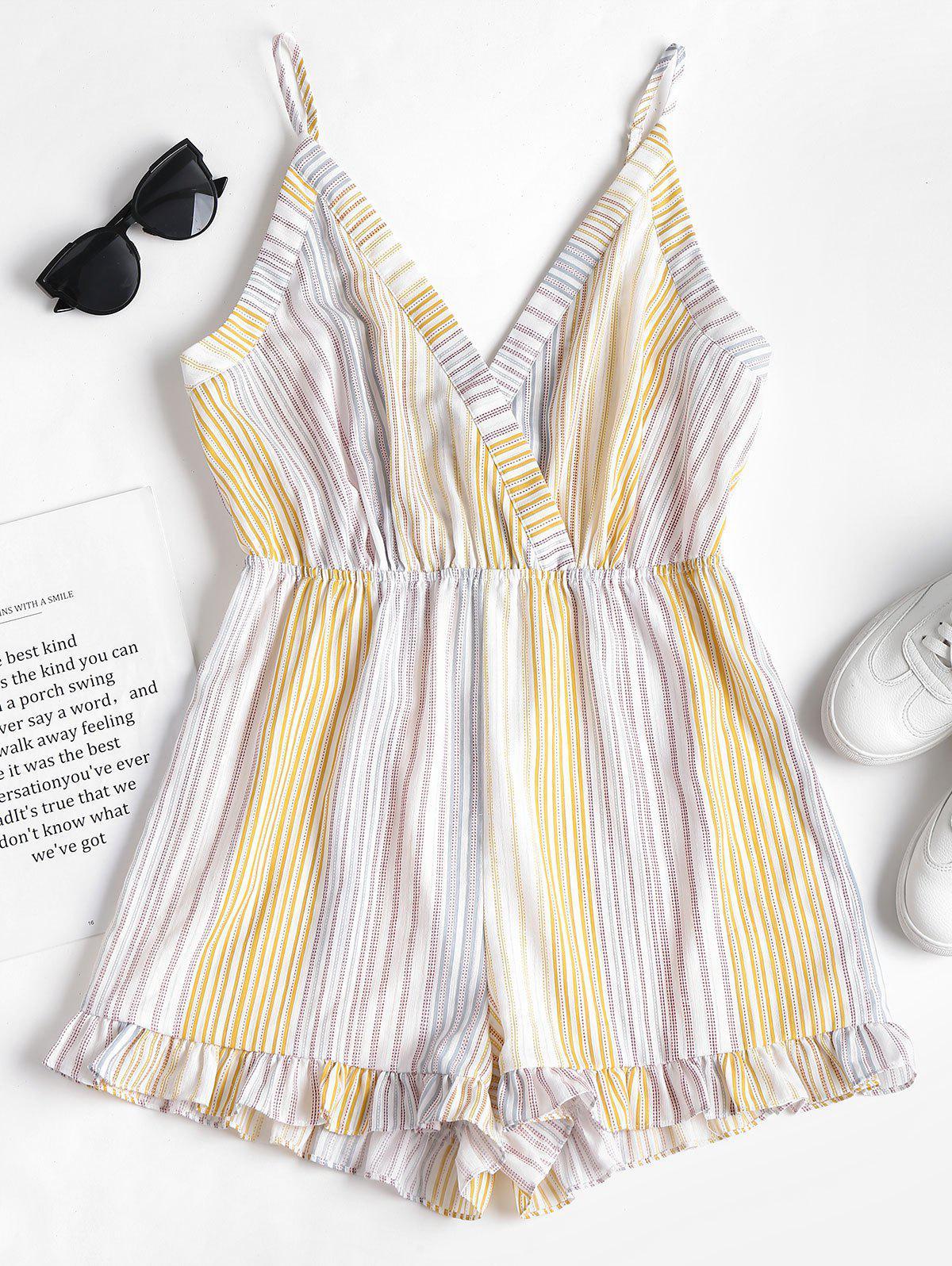 Stripes Cami Romper