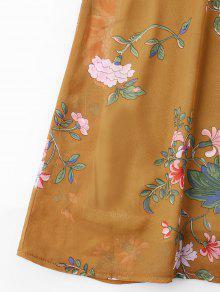 S Amarillo Autob Con Cami Vestido Estampado Volantes Escolar De Floral De 250;s De 7q0nUf