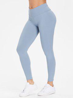 Performance Sports Leggings - Cornflower Blue M