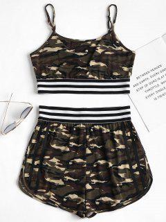 Camouflage Cami Shorts Set - Acu Camouflage M