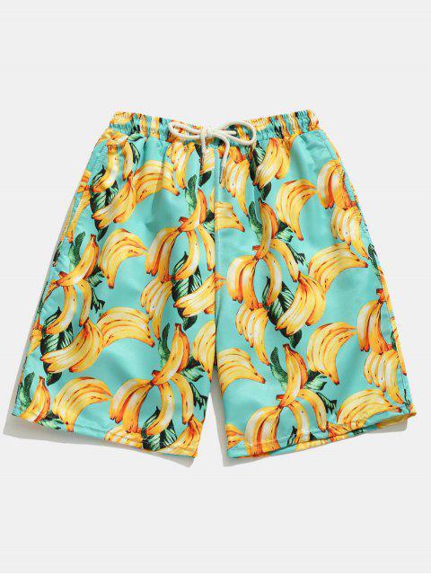 Taschen Banane Gedruckte Boardshorts - Blaue Zirkon L Mobile