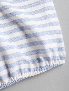 Jeans Top M Con De Descubiertos Azul Hombros Corto vFxwAHqFnY