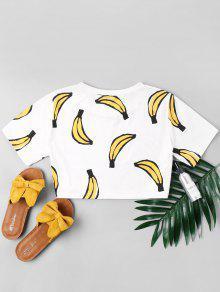Banana De Con Blanco L Estampado Estampada Camiseta wFR4qAI