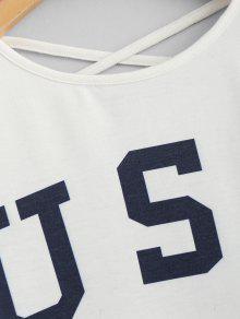 Criss De Bandera Americana La Blanco Cross De Camiseta S qPEXdq