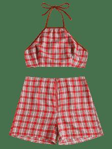 Conjunto 225;n S Shorts Top Y De Tart Rojo Anudado De SwqOSZxr6