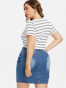 Cuello L Y Redondo Blanco Grande Pliegue Con Talla Camiseta 7v6x44