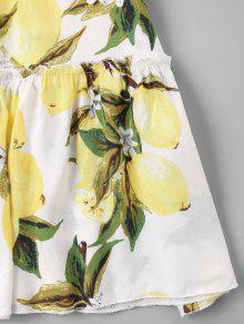Vestido Lim S De Con Amarillo Estampado Cami 243;n xxOnaUv