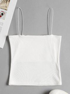 Top Corto Acampanado Con Diseño Cami Acanalado - Blanco S