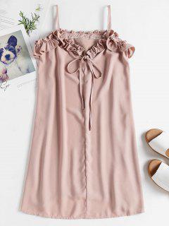 Ruffle Cami Shift Sun Dress - Rosy Brown