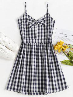 Gingham Cami A Line Sun Dress - Multi L