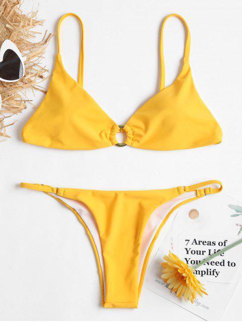 Grommet Cami String Bikini - Caucho Ducky Amarillo S Mobile