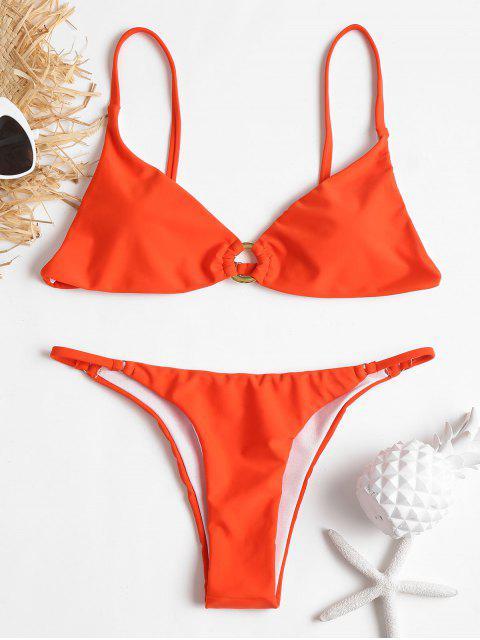 shop Grommet Cami String Bikini - ORANGE M Mobile