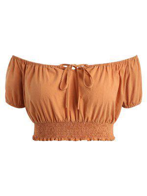 Plus Größe Smocked Taillen Bluse