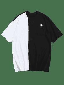 Con De o Negro De Contraste L Camiseta De Color Dise Bolsillo dqZf4t6