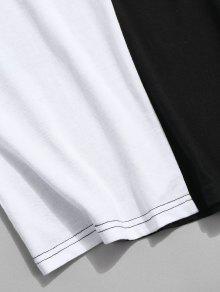 Bolsillo Contraste De Color De Con Negro o De Camiseta L Dise wAIqCx8
